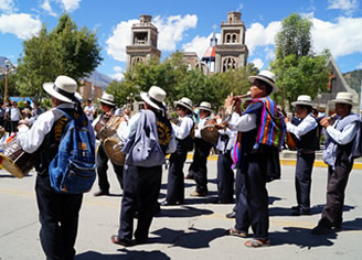 Folk fest in Huaraz city