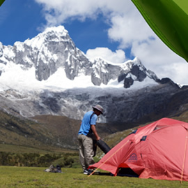Cordillera Blanca trekking, hiking and climbing tours Peru