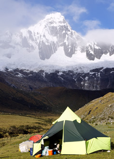 Taulliraju mountain in the Cordillera Blanca Peruvian Andes
